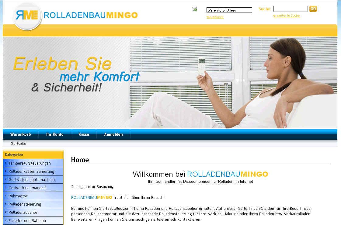 CSV Import für Rolladenbau-Mingo.de